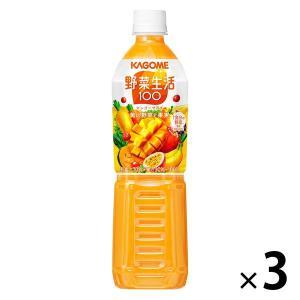 カゴメ 野菜生活100 マンゴーサラダ スマートPET 720ml 1セット(3本) 野菜ジュース