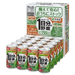 伊藤園 1日分の野菜 190g 1箱(20缶入) 野菜ジュース|y-lohaco