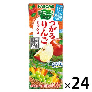 カゴメ 野菜生活100 青森りんごミックス 195ml 1箱(24本入) 野菜ジュース