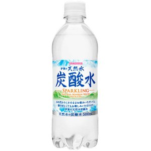 サンガリア 伊賀の天然水炭酸水 500ml 1セット(48本)