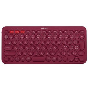 ロジクール(Logicool) Bluetooth対応マルチデバイスキーボード K380 レッド パ...