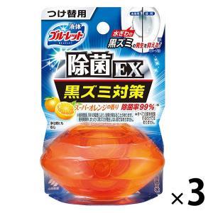 液体ブルーレットおくだけ除菌EX トイレタンク芳香洗浄剤 つけ替え用 スーパーオレンジ 70ml 小...