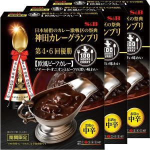 エスビー食品 神田カレーグランプリ 100時間カレーB&R 欧風ビーフカレー中辛 1セット(3個)