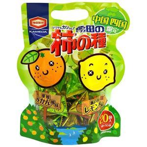 ご当地柿の種 亀田製菓 中国四国限定 亀田の柿の種 みかん風味&レモン風味 1袋