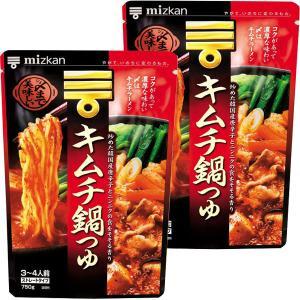 ミツカン 〆まで美味しいキムチ鍋つゆ ストレート 750g 2個