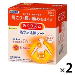 めぐりズム蒸気の温熱シート 無香料 1セット(16枚入×2箱) 花王 I5MmU4MzAx