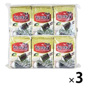 カルディコーヒーファーム〈オーバーシーズ〉 ソチョン 伝統韓国のり (8枚×12p入)1セット(3袋...