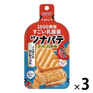 ツナ いなば食品 1000億個すごい乳酸菌 ツナパテ ノンオイルプレーン 国産 30g 3袋 パン