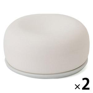 無印良品 アロマストーン 皿付 白 2個 良品計画|LOHACO PayPayモール店