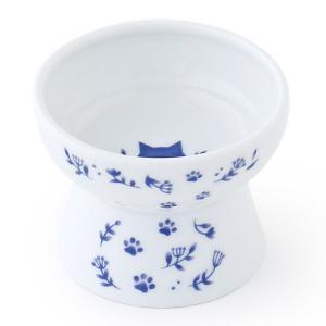 ロハコ限定 ハッピーダイニング 猫用 おやつ皿 ネイビー 1個 猫壱