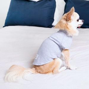 ロハコ限定 犬用 猫用 服 オーガニックコットン100% 染料/ブルーベリー S パジャマ Tシャツ...