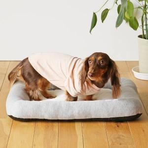 ロハコ限定 犬用ベッド 使いやすいフラットベッド オーガニックコットン100% 染料/竹炭グレー M...