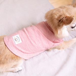 ロハコ限定 犬用 猫用 服 オーガニックコットン100% 染料/薔薇 S パジャマ Tシャツ おしゃ...