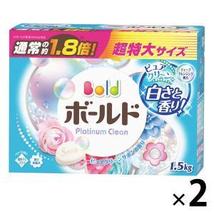 アウトレット ボールド プラチナクリーン ピュアクリーンサボンの香り 1.5kg  粉末洗剤 P&G 1セット(2個:1個×2)