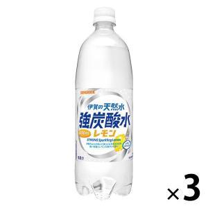 サンガリア 伊賀の天然水 強炭酸水レモン 1L 1セット(3本)|y-lohaco