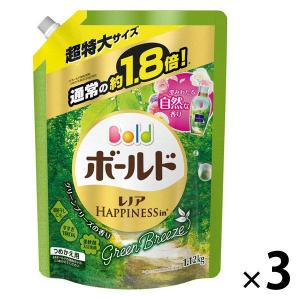 アウトレットP&G ボールドジェル ユニセックス グリーンブリーズの香り 詰め替え 超特大 1.12kg 洗濯洗剤  1セット(3個:1個×3)