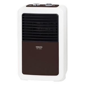 山善 ミニセラミックファンヒーター DMF-SA066(T) 温度調整機能付き 600W ブラウン