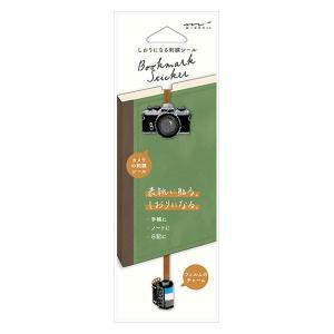 しおりシール 刺繍 カメラ柄 82468006 デザインフィル