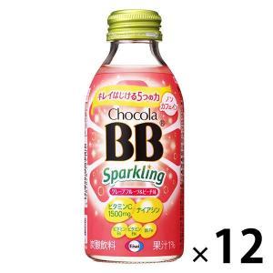 チョコラBBスパークリング グレープフルーツ&ピーチ味 140mL 1セット(12本入) エーザイ ...