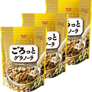 日清シスコ ごろっとグラノーラ きなこ仕立ての充実大豆 500g 1セット(3袋) y-lohaco