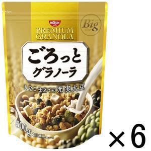 日清シスコ ごろっとグラノーラ きなこ仕立ての充実大豆 500g 1セット(6袋) y-lohaco