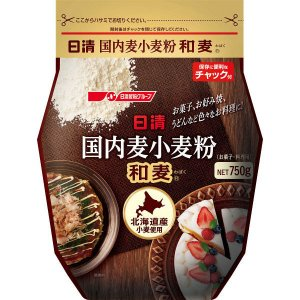 日清フーズ 日清 国内麦小麦粉 和麦 (750g) ×1個