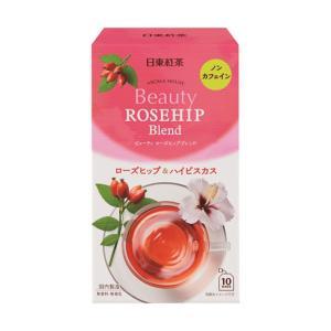 ノンカフェイン 日東紅茶 アロマハウス ビューティーローズヒップ 1箱(10バッグ入)