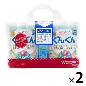 9ヵ月頃からWAKODO(和光堂) フォローアップミルク ぐんぐん(大缶)830g×2缶パック (おまけ付) 1セット(2パック:4缶) アサヒグループ食品|y-lohaco