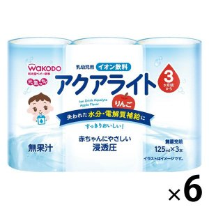 3ヵ月頃から WAKODO 和光堂 元気っち  アクアライト りんご 125ml×3本入 1セット(...
