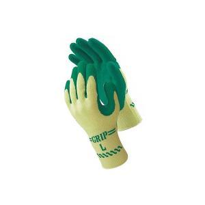 ショーワグローブ ゴム手袋 グリップ(ソフトタイプ) Lサイズ グリーン 310 1セット(30双:...