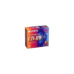 アウトレット ソニー CD-RW 700MB 5色カラー 1パック(5枚)