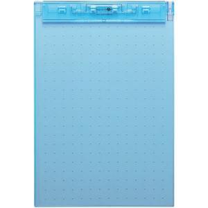 リヒトラブ 超薄型クリップボード A4 青 A5067-8