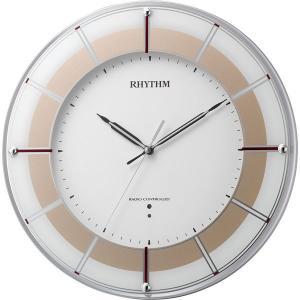アウトレットリズム時計 高精度電波時計 スリーウエイブ843 1個 4MY843SR18|y-lohaco