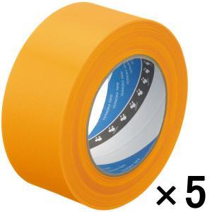 寺岡製作所 養生テープ P-カットテープ No.4140 塗装養生用 黄 幅50mm×長さ50m巻 ...