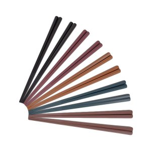 アウトレット六角形で持ちやすい箸23cm 1セット(10膳:5色×各2P) シービージャパン|y-lohaco