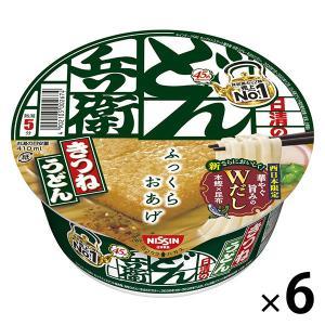 日清食品 日清のどん兵衛 きつねうどん(西日本版) (6個入り)|LOHACO PayPayモール店
