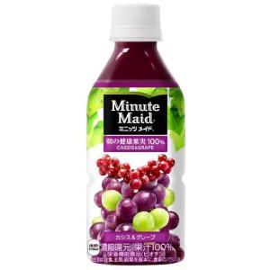 コカ・コーラ ミニッツメイド 朝の健康果実 カシスグレープ 350ml 1箱(24本入)