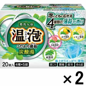 アウトレット温泡 こだわり薄荷(はっか) 炭酸湯 4種アソート 1セット(20錠入×2箱) アース製薬|y-lohaco