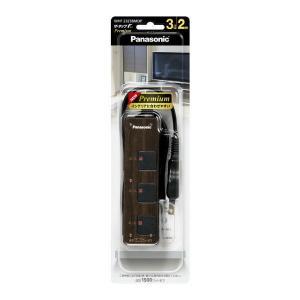 パナソニック ザ・タップF プレミアム(3コ口)(スナップキャップ・2mコード付)WHF2323BMDP ダークウッド 1個|LOHACO PayPayモール店