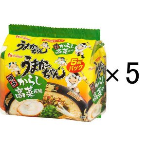 ハウス食品 うまかっちゃん 博多からし高菜風味 1パック(5食入)×5個|y-lohaco