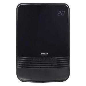 YAMAZEN セラミックヒーター 黒 DHF-K12(B) 1200W 温度センサー 強弱切替 チ...