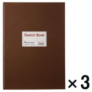 アウトレット マルマン スケッチブック B4 24枚 1セット(3冊) ASB4-24S