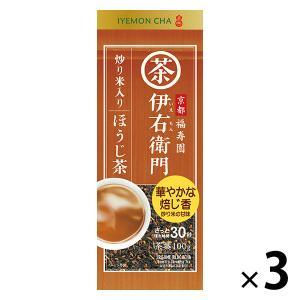 宇治の露製茶 伊右衛門 炒り米入りほうじ茶 1セット(100g×3袋)