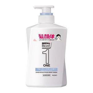 メンズビオレ ONE オールインワン全身洗浄料 フルーティーサボンの香り 本体 480ml 1本 花王|y-lohaco