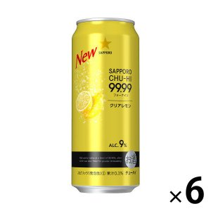 サッポロビール サッポロチューハイ 99.99(フォーナイン) クリアレモン 500ml × 6缶|y-lohaco