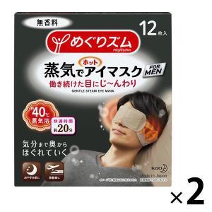めぐりズム 蒸気でホットアイマスク FOR MEN 無香料 1セット(12枚入×2箱) 花王 I5M...
