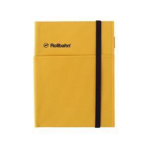 ロルバーン ノートカバー ポケット A5 イエロー 黄色 デルフォニックス