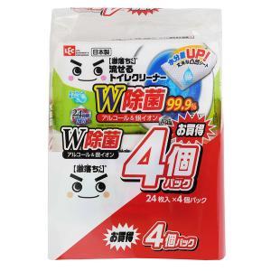 激落ちくん 流せる 除菌 99.9% トイレクリーナー 掃除 1パック(24枚×4個入) レック (S00285)|LOHACO PayPayモール店