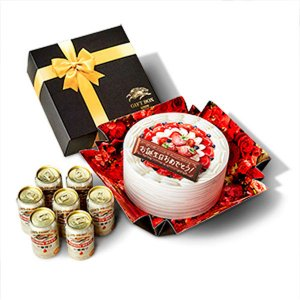LOHACO先行販売キリンビール 一番搾り 誕生日ケーキBOXギフトセット 350ml×7缶|y-lohaco