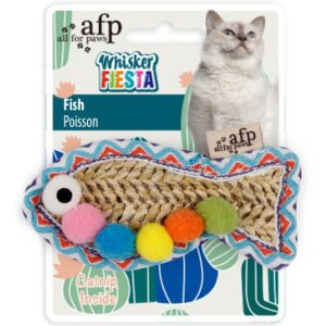 afp Whisker FIESTA フィッシュ 猫用 おもちゃ 1個 サンメイト|y-lohaco